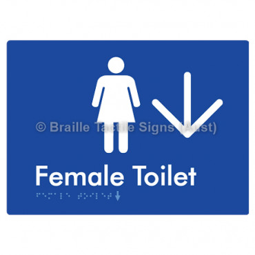 Female Toilet w/ Large Arrow: D
