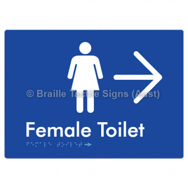 Female Toilet w/ Large Arrow: R