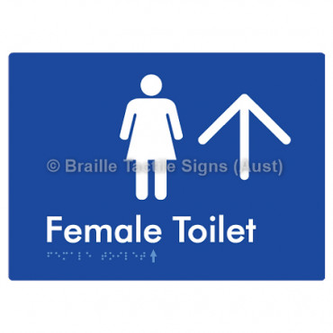 Female Toilet w/ Large Arrow: U