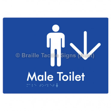 Male Toilet w/ Large Arrow: D