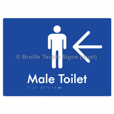 Male Toilet w/ Large Arrow: L