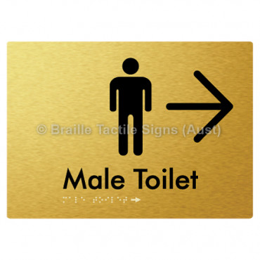 Male Toilet w/ Large Arrow: R