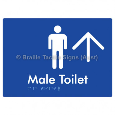 Male Toilet w/ Large Arrow: U