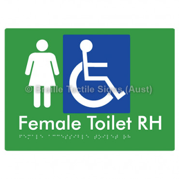 Female Accessible Toilet RH