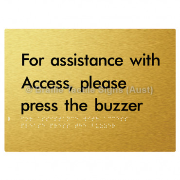For Assistance With Access, Please Press The Buzzer