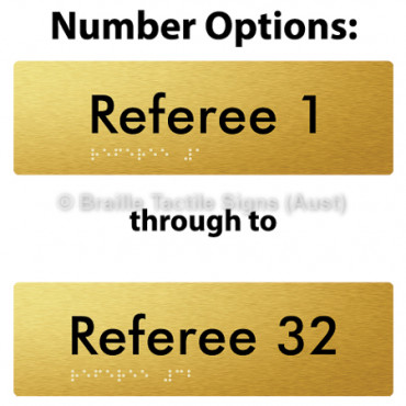 Referee # - Opt 1 to 32