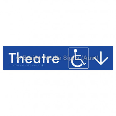 Accessible Theatre Entrance w/ Large Arrow: D