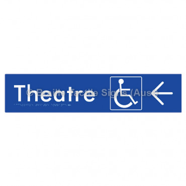 Accessible Theatre Entrance w/ Large Arrow: R