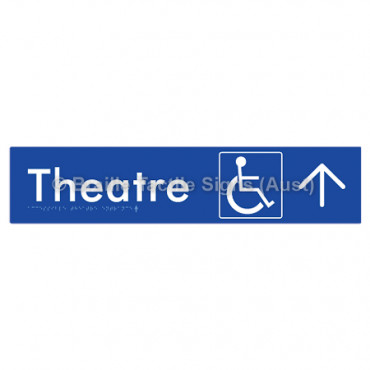 Accessible Theatre Entrance w/ Large Arrow: U
