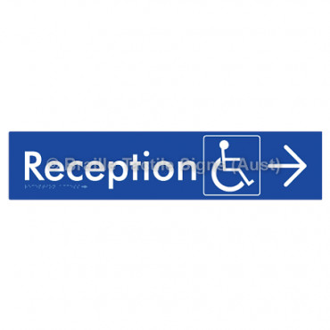 Reception Access w/ Large Arrow: U