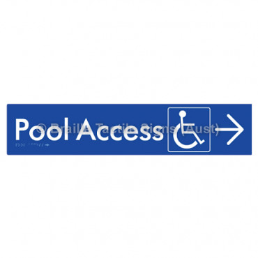 Pool Access w/ Large Arrow: R