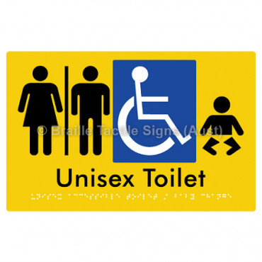Unisex Accessible Toilet / Baby Change w/ Air Lock