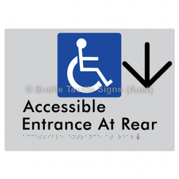 Accessible Entrance at Rear w/ Large Arrow: D