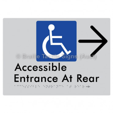 Accessible Entrance at Rear w/ Large Arrow: R