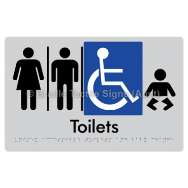 Unisex Accessible Toilets & Baby Change  w/ Air Lock x 2