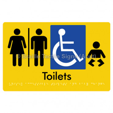 Unisex Accessible Toilets & Baby Change  w/ Air Lock