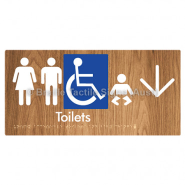 Unisex Accessible Toilets & Baby Change  w/ Large Arrow: D
