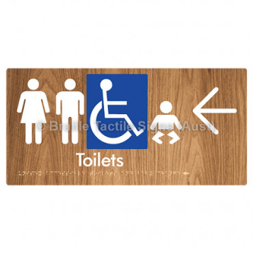 Unisex Accessible Toilets & Baby Change  w/ Large Arrow: L