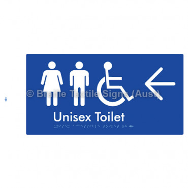 Unisex Accessible Toilet w/ Large Arrow: L
