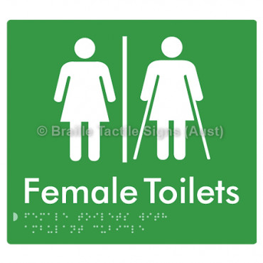 Female Toilets with Ambulant Cubicle w/ Air Lock