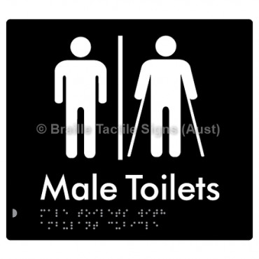 Male Toilets with Ambulant Cubicle w/ Air Lock