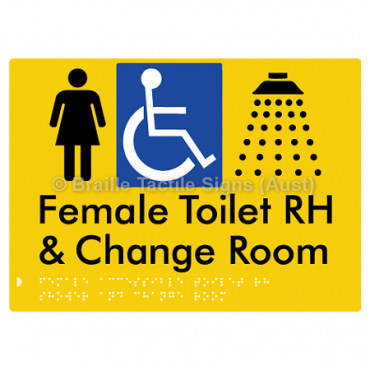 Female Accessible Toilet RH Shower & Change Room
