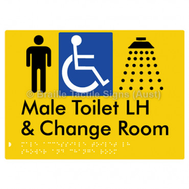 Male Accessible Toilet LH Shower & Change Room