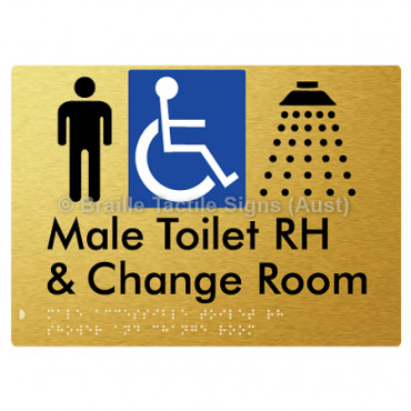 Male Accessible Toilet RH Shower & Change Room