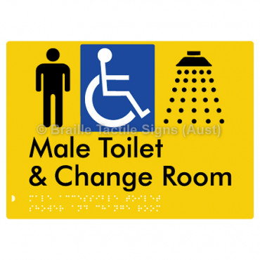 Male Accessible Toilet Shower & Change Room