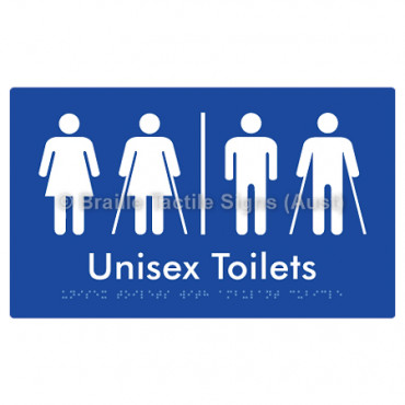 Unisex Toilets with Ambulant Cubicle w/ Air Lock