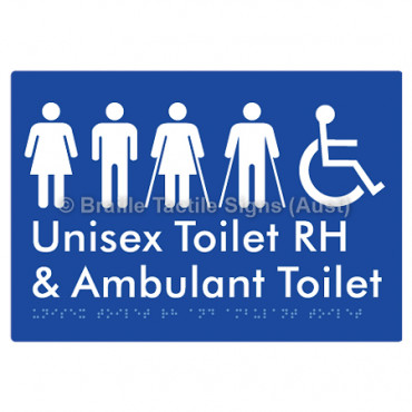 Unisex Accessible Toilet RH and Ambulant Toilet