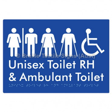 Unisex Accessible Toilet RH and Ambulant Toilet w/ Air Lock