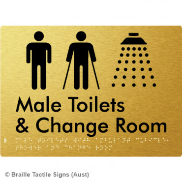 Male Toilets with Ambulant Cubicle, Shower and Change Room