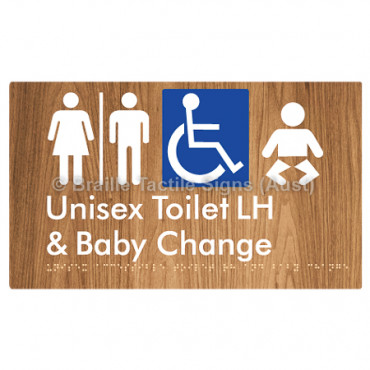 Unisex Accessible Toilet LH and Baby Change w/ Air Lock