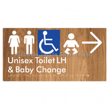 Unisex Accessible Toilet LH and Baby Change w/ Large Arrow: R