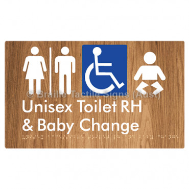 Unisex Accessible Toilet RH and Baby Change w/ Air Lock
