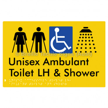 Unisex Accessible Toilet LH, Ambulant Toilet and Shower