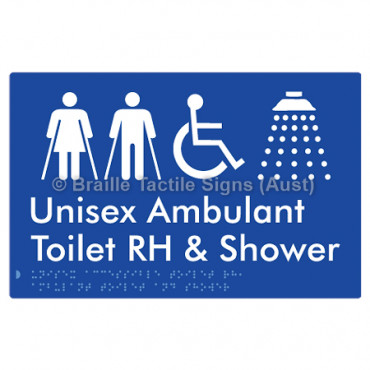 Unisex Accessible Toilet RH, Ambulant Toilet and Shower