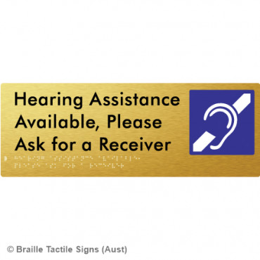 Hearing Assistance Available, Please Ask for a Receiver