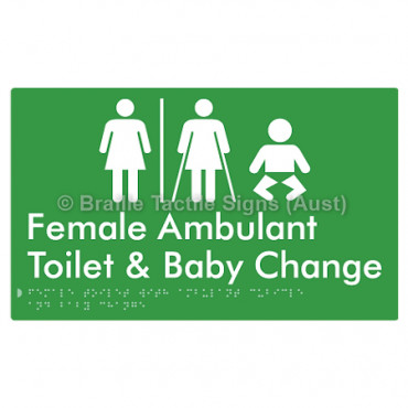 Female Toilet with Ambulant Cubicle and Baby Change  w/ Air Lock