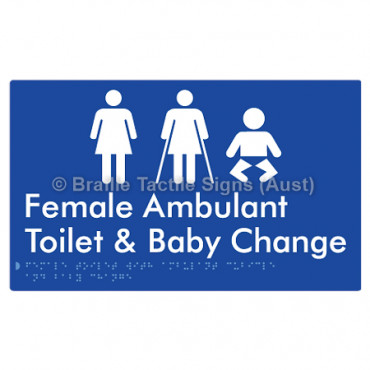 Female Toilet with Ambulant Cubicle and Baby Change