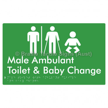 Male Toilet with Ambulant Cubicle and Baby Change  w/ Air Lock
