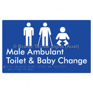 Male Toilet with Ambulant Cubicle and Baby Change