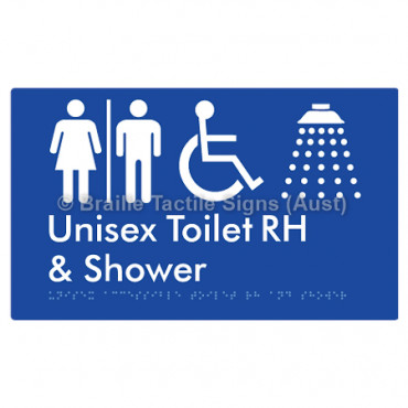 Unisex Accessible Toilet RH & Shower w/ Air Lock