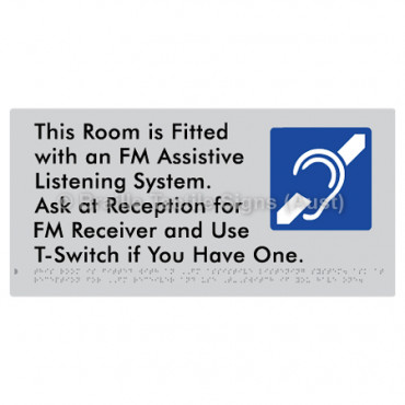 This Room is Fitted with an FM Assistive Listening System. Ask at Reception for FM Receiver and Use T-Switch if You Have One
