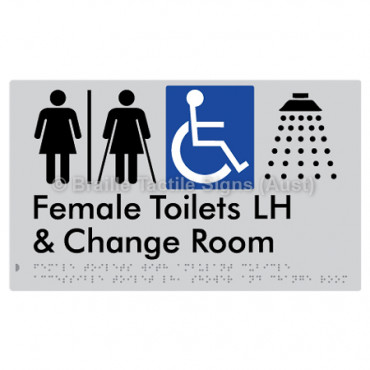 Female Toilets with Ambulant Cubicle Accessible Toilet LH, Shower and Change Room (Air Lock)