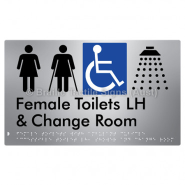 Female Toilets with Ambulant Cubicle Accessible Toilet LH, Shower and Change Room