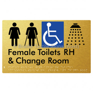 Female Toilets with Ambulant Cubicle Accessible Toilet RH, Shower and Change Room