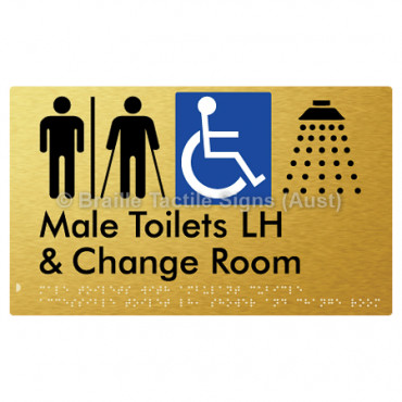 Male Toilets with Ambulant Cubicle Accessible Toilet LH, Shower and Change Room (Air Lock)