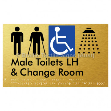 Male Toilets with Ambulant Cubicle Accessible Toilet LH, Shower and Change Room